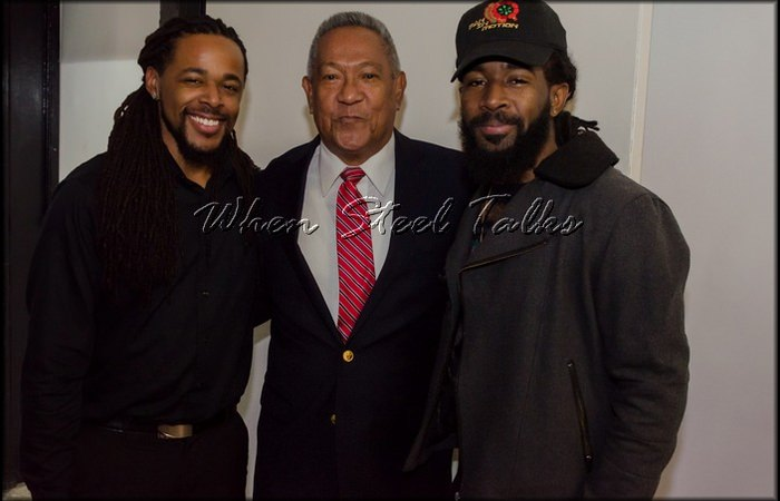 E. Clarke, HueLoy & K. Williams at the Homegrown concert