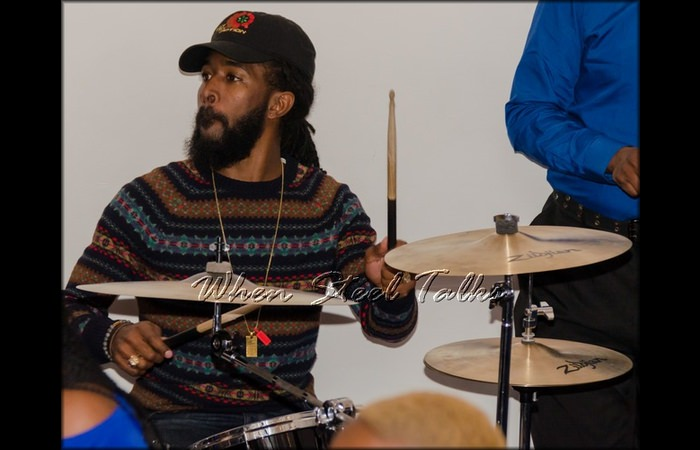 K. Williams on drums at the Homegrown concert