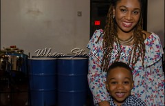 K. Scanterbury & son at the Homegrown concert