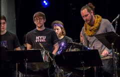 Guest artist Victor Provost with NYU Steel Ensemble