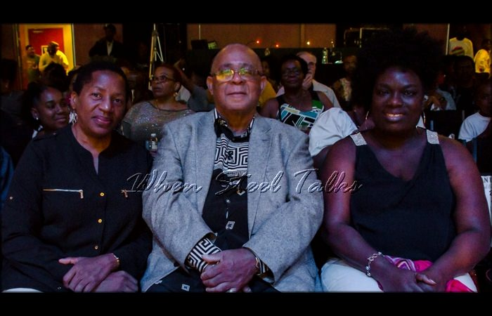 Her Excellency, Pennelope Beckles-Robinson - left, Her Honour, Judge Deborah Thomas-Felix - right. Martin Douglas, USSA president is at center
