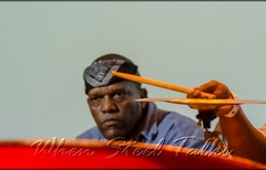 Percussionist Lenny King with Pan Evolution Steel Orchestra